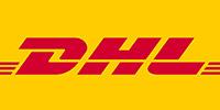 DHL Logo für schnellen Versand der Hundefutter Online bestellungen im Online Shop