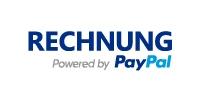 Bezahlen der Hundewurst vom Metzgers auf Rechung über PayPal Logo