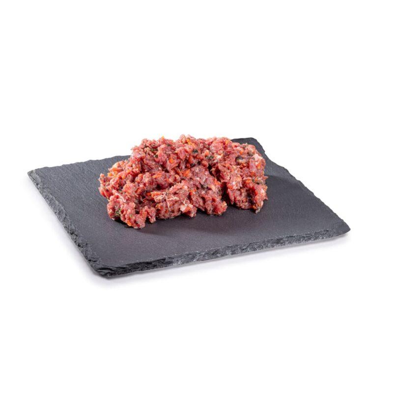 BARF Rindermix Gemüse Rohfleisch, Barf-Hundefutter frisch vom Metzger im Paribal Online Shop bestellbar