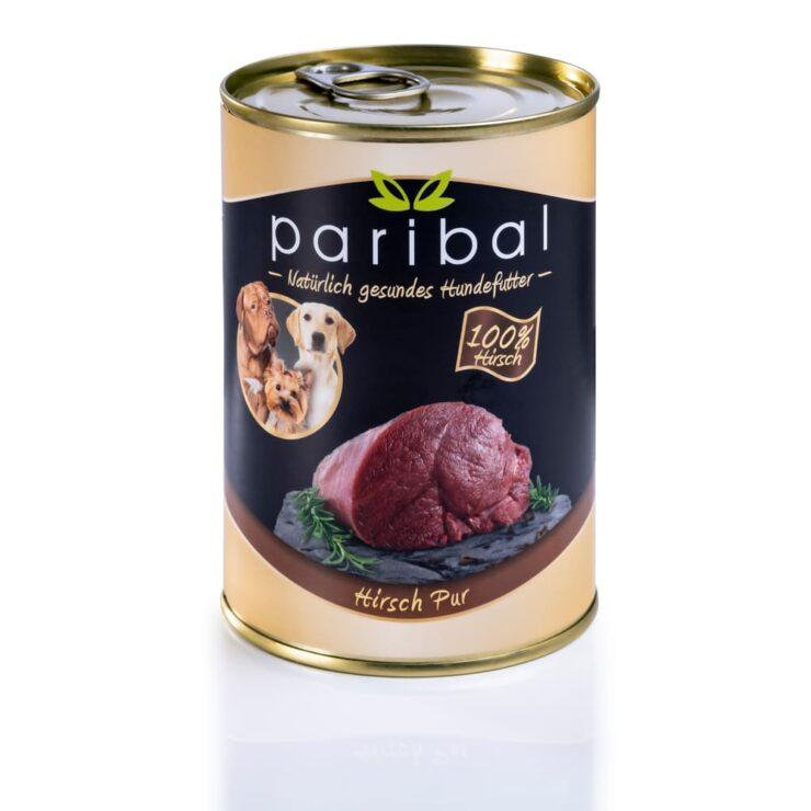 hirsch-pur-385g, Dosenfutter 100% Fleisch vom Hirsch als Hundefutter, Hundefutter vom Metzger