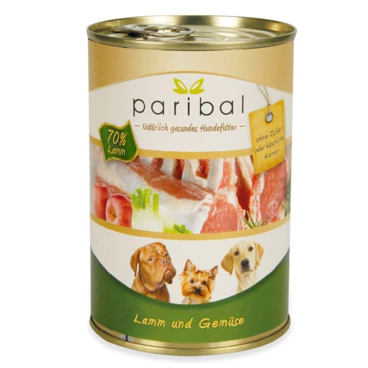 lamm-und-gemüse-385g Hunde Futtter Dose von Paribal