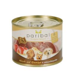 Hirsch-Gemüse Menü 185g Alleinfuttermittel Hundefutter Bild