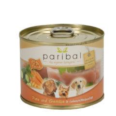 Pute-Gemüse Menü 185g Alleinfuttermittel Hundefutter Bild