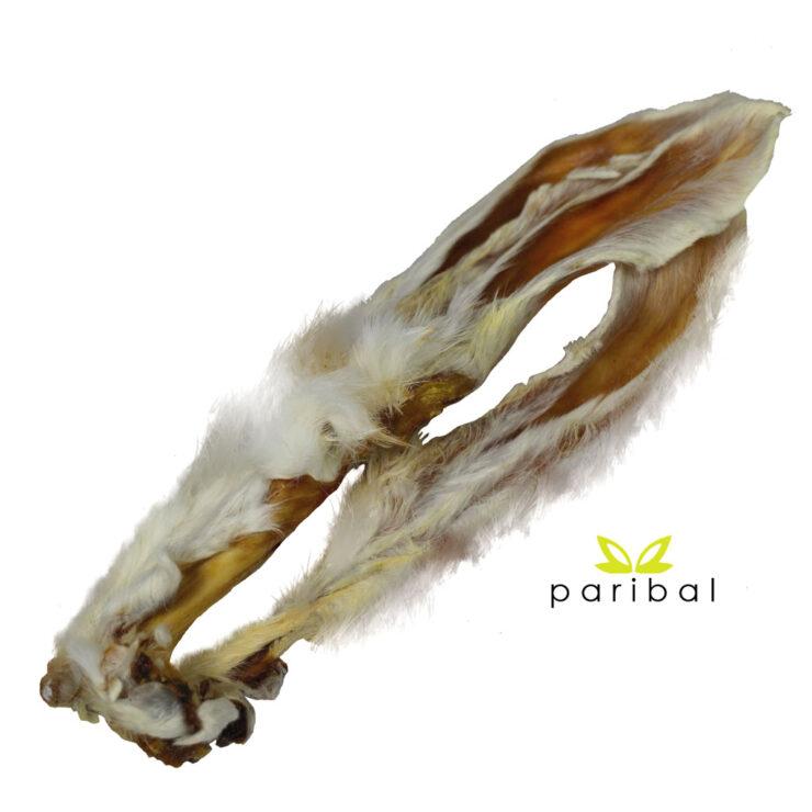 Kaninchenohren mit Fell Kauartikel Wild von Paribal als Hunde-Kauartikel
