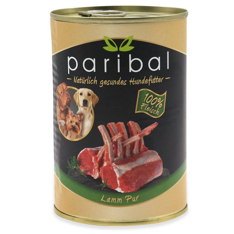 lamm-pur-385g, Dosenfutter 100% Fleisch vom Lamm als Hundefutter, Hundefutter vom Metzger