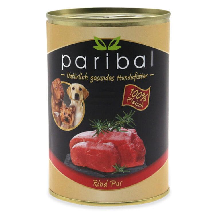 rind-pur-385g Rind Pur Dosenfutter 100% Fleisch vom Rind als Hundefutter