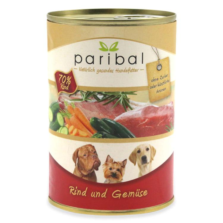 rind-und-gemüse-385g Dosenfutter für Hunde